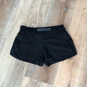 Lululemon Speed Shorts Raw Hem Size 4